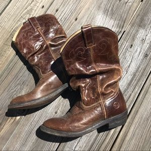 double-H Shoes - Double-H distressed leather cowboy boots